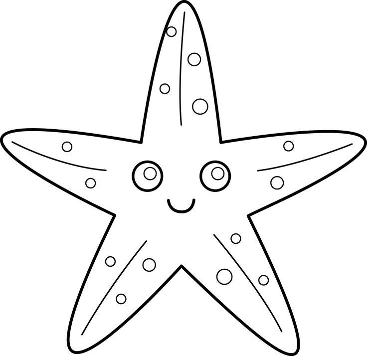 Starfish Clipart Black And White