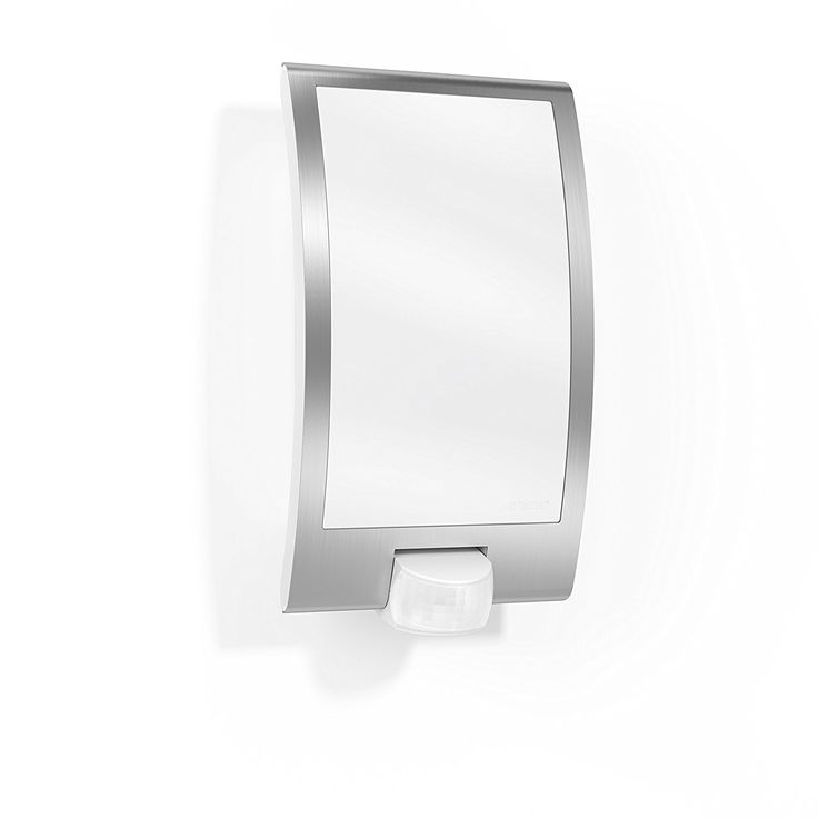 Steinel Sensor Switched Outdoor Light L 22 - Wall Light with 180° Motion Detector and up to 10 m Reach, Sensor Light made of Plastic and Stainless Steel Trim for max. 60 Watt, E 27 Socket, 009816