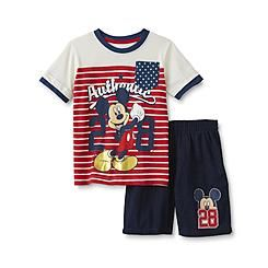 Disney Baby Mickey Mouse Infant & Toddler Boy's T-Shirt & Shorts…