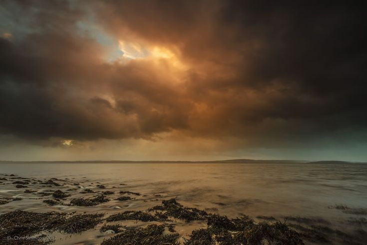 Eigneig Bay Storm Approaching by Chris Simmons Photography