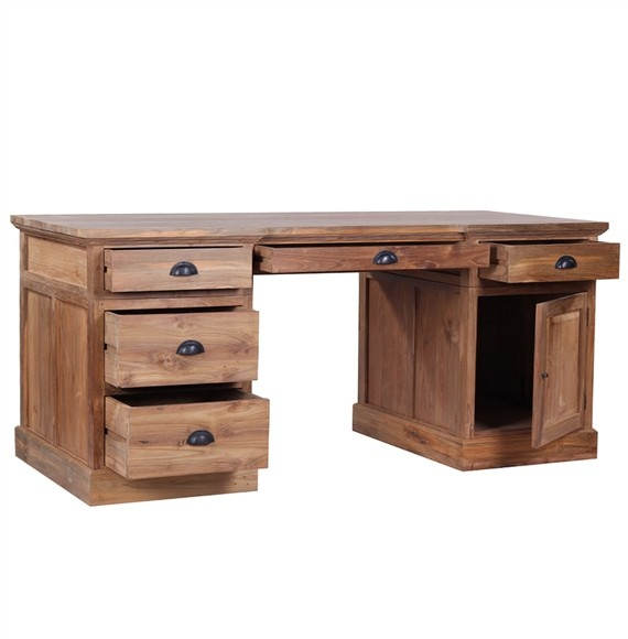 The 'Lembar' Desk – beautiful and unique, solid wood desk made from 100% eco-friendly solid reclaimed teak.