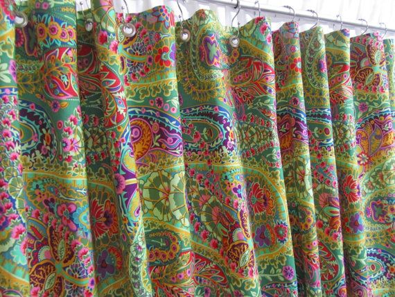 Hey, I found this really awesome Etsy listing at https://www.etsy.com/au/listing/220616519/bohemian-shower-curtain-bright-green