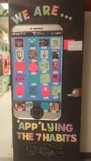 The leader in me classroom door decoration @Heather Creswell Swaim @Tia Lappe Parker @Julie Forrest Kyle Simonson