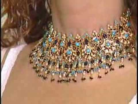 Beading education Flash video Beadanimation _ How to make Beaded 04 A Snowflower Phone starp - YouTube