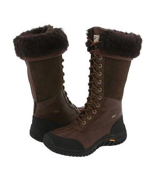 UGG Adirondack Tall 5498 Leather Boots- Chocolate