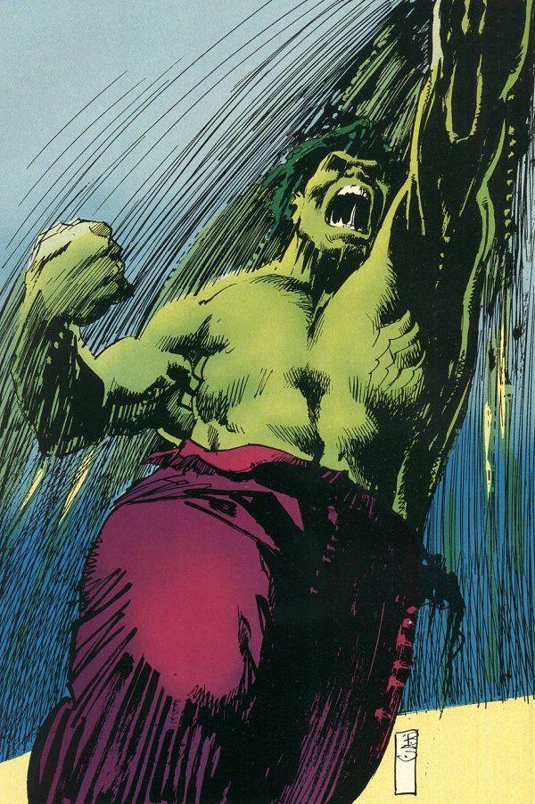 #Hulk #Fan #Art. (Hulk) By:Bill Sienkiewicz. (THE * 5 * STÅR * ÅWARD * OF: * AW YEAH, IT'S MAJOR ÅWESOMENESS!!!™)[THANK Ü 4 PINNING!!!<·><]<©>ÅÅÅ+(OB4E)