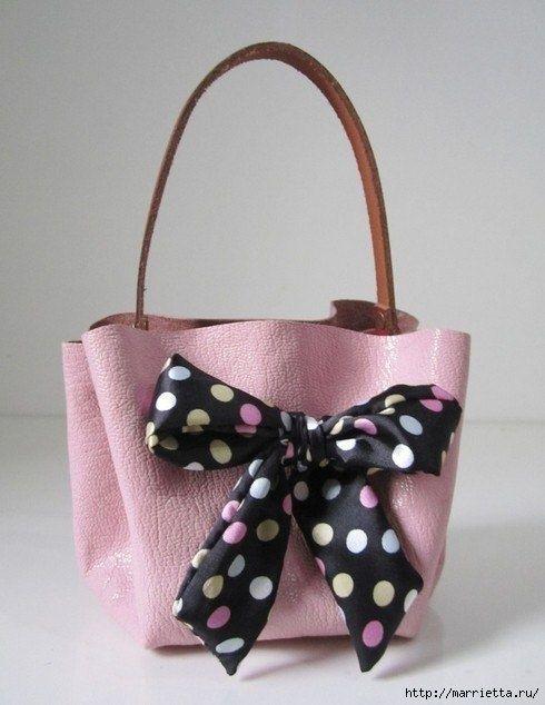 Запись: Самый простой вариант создания кожаной сумочки http://marr…