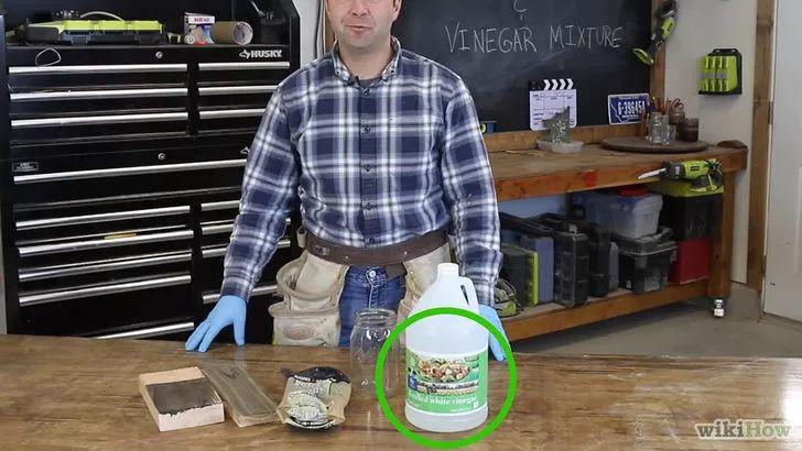 Cómo envejecer madera usando vinagre y lana de acero