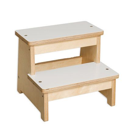 Children's Step Stool Wooden Step Stool Kids by EllaMenoPeaDesign