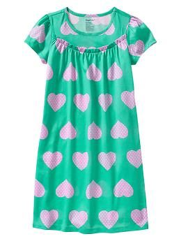 Heart nightgown - Introducing our new Mix  Match PJ collection: Bedtime Favorites. Try out prints on prints or stick to solids – make it your own!