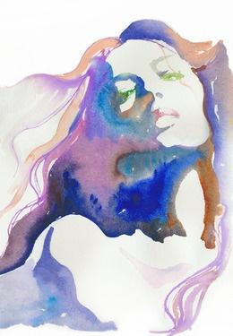 "Saatchi Online Artist Cate Parr; Painting, ""Magique"" #art  Love the water color"