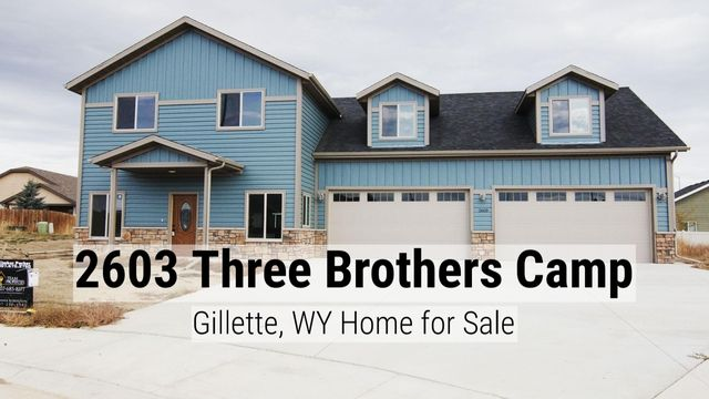 New Construction with an innovative design & tons of space to entertain! Learn all about 2603 Three Brothers Camp in Gillette, WY.