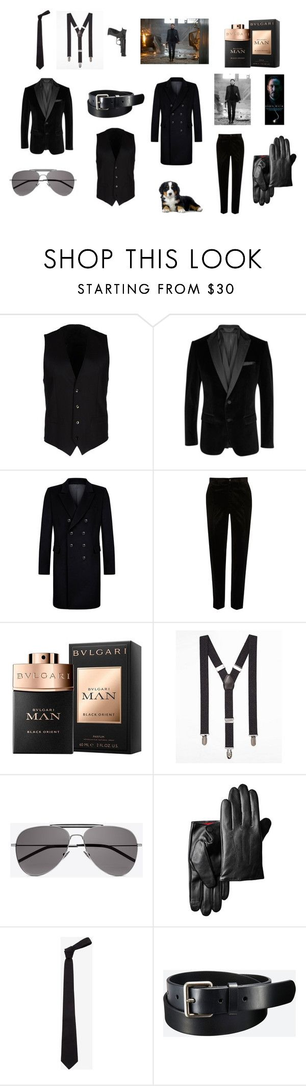 """John Wick-Hitman"" by dorian1890 on Polyvore featuring Dolce&Gabbana, BOSS Black, Kumeth, River Island, Express, Yves Saint Laurent, Alexander McQueen, Uniqlo, Smith & Wesson ve men's fashion"