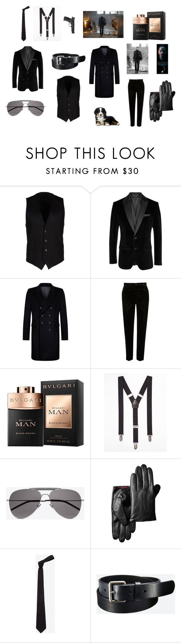 """John Wick-Hitman"" by dorian1890 on Polyvore featuring Dolce&Gabbana, BOSS Black, Kumeth, River Island, Express, Yves Saint Laurent, Alexander McQueen, Uniqlo, Smith & Wesson ve men's fashion"