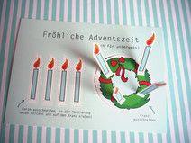 1x Karte Fröhliche Adventszeit DIY ★ Weihnachten