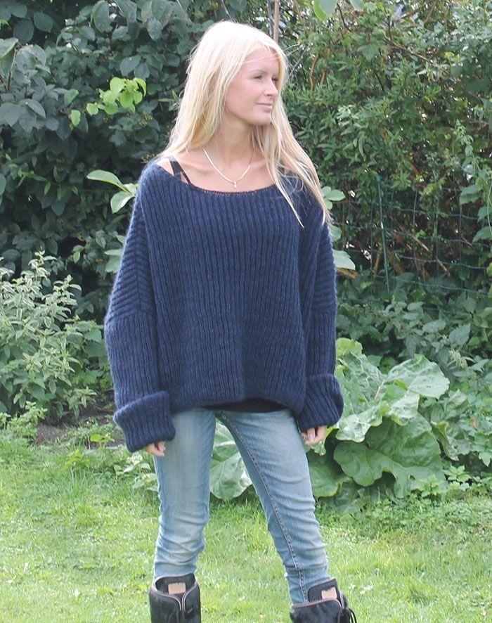 Strikkeopskrift til dansk pelsuld strikketrøje sweater