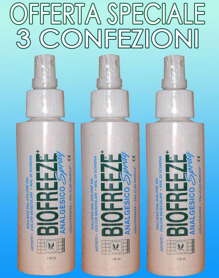 Biofreeze Spray antiinfiammatorio per dolori articolari e muscolari 118 ml - 3 p