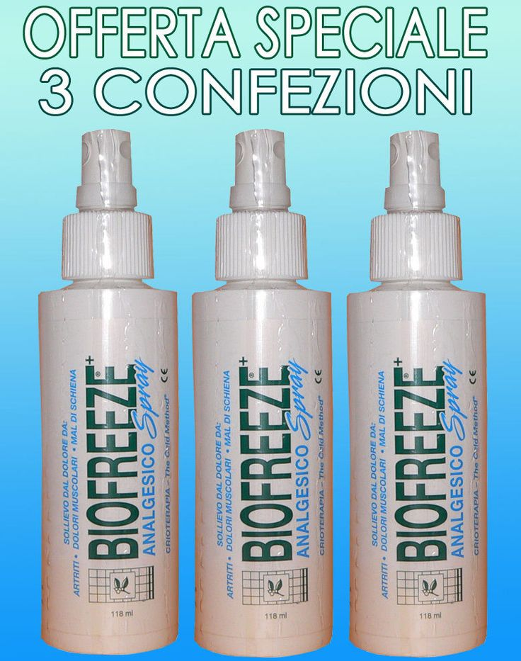 Biofreeze Spray antiinfiammatorio per dolori articolari e muscolari 118 ml - 3 p