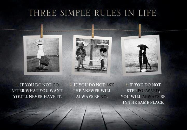 Three simple rules in lifeLife Quotes, Life Rules, Simple Rules, Lifequotes, Motivation Quotes, Three Simple, The Rules, Inspiration Quotes, Moving Forward