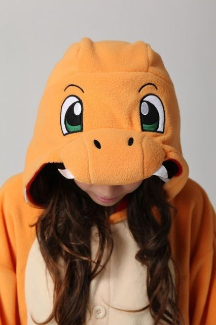 Charmander Onesie.Feel the warmth and never let the flame go out.