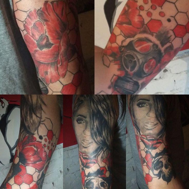 Full sleeve in progress