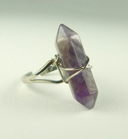 Amethyst Crystal Ring February Birthstone Ring Quartz Stone Jewerly