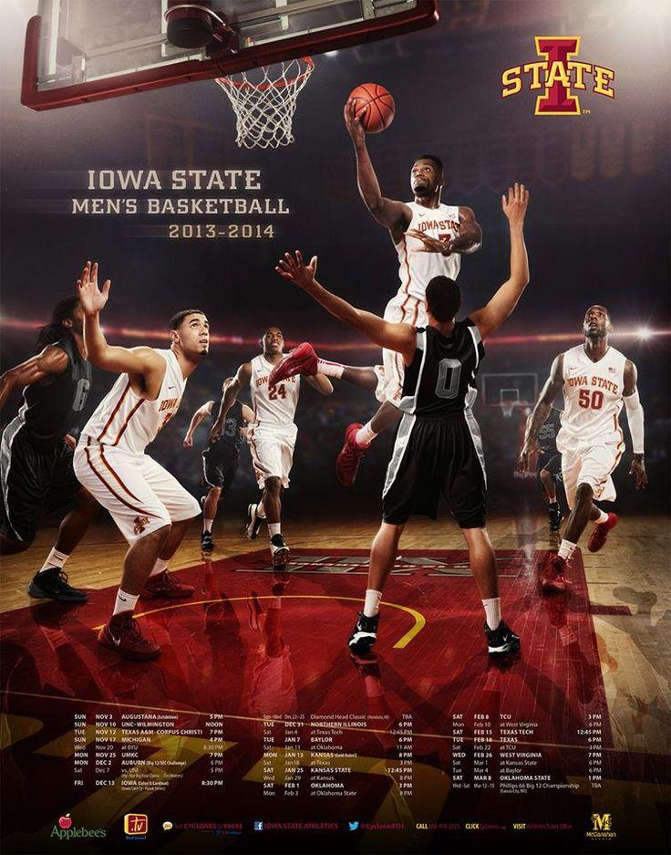Iowa State Men's Basketball Team Poster. 2013-2014