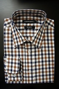 Brown / Black Gingham woven cotton for Christmas gift idea!