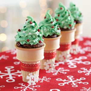 Funfetti® Holiday Brownie Cones | MyRecipes.com