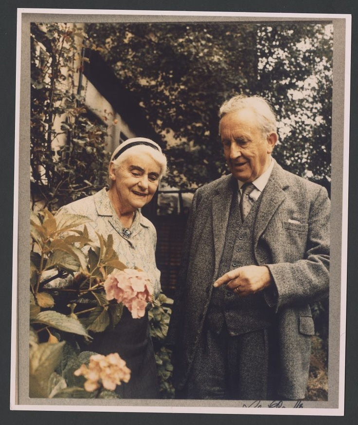 """Edith and J.R.R. Tolkien - """"Faithless is he that says farewell when the road darkens."""""""