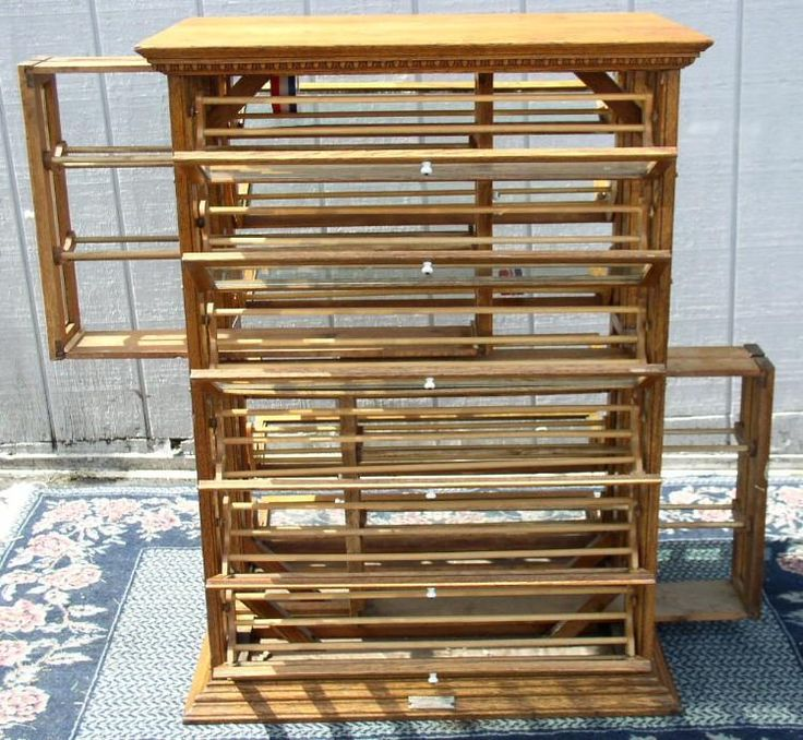 Tall Oak Ribbon Cabinet with Pull-Out Center Sections, BRASS LANTERN  ANTIQUES - 124 Best Sewing Cabinets Images On Pinterest DIY, Boxes And Cabinets