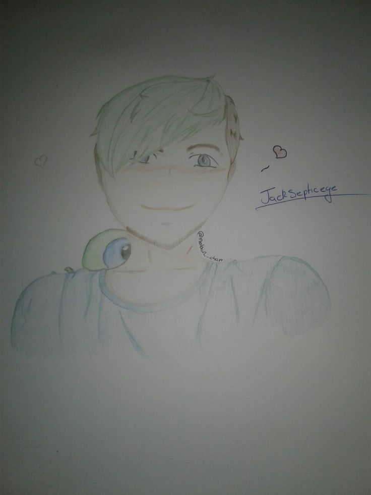 Jacksepticeye fanart. It's my first and I turned a real picture into anime but they look nothing a like.