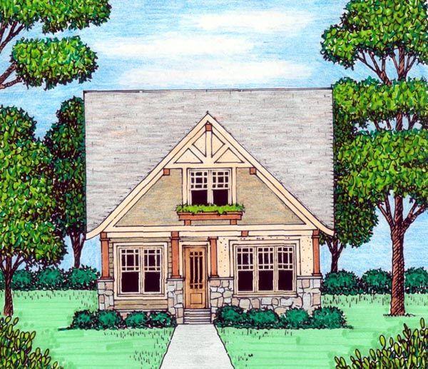 images about House plans on Pinterest   House plans    Bungalow Craftsman Tudor House Plan good idea but needs