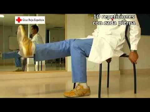 Ejercicios para personas mayores. Piernas 6/7 - YouTube