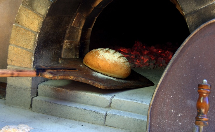 Fresh sourdough straight from the wood oven