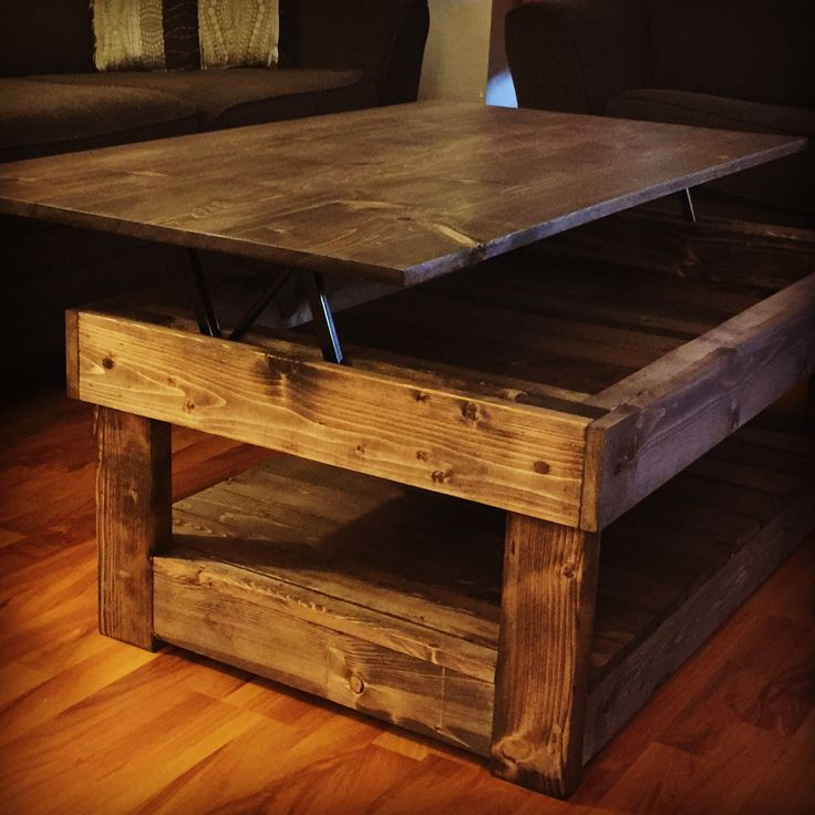 Lift Table Coffee Table: Rustic Lift Top Coffee Table