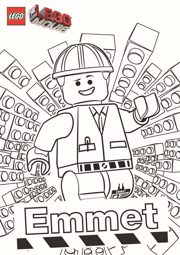 Free coloring page from the Lego Movie featuring the hero Emmet. #lego #coloringpages #free