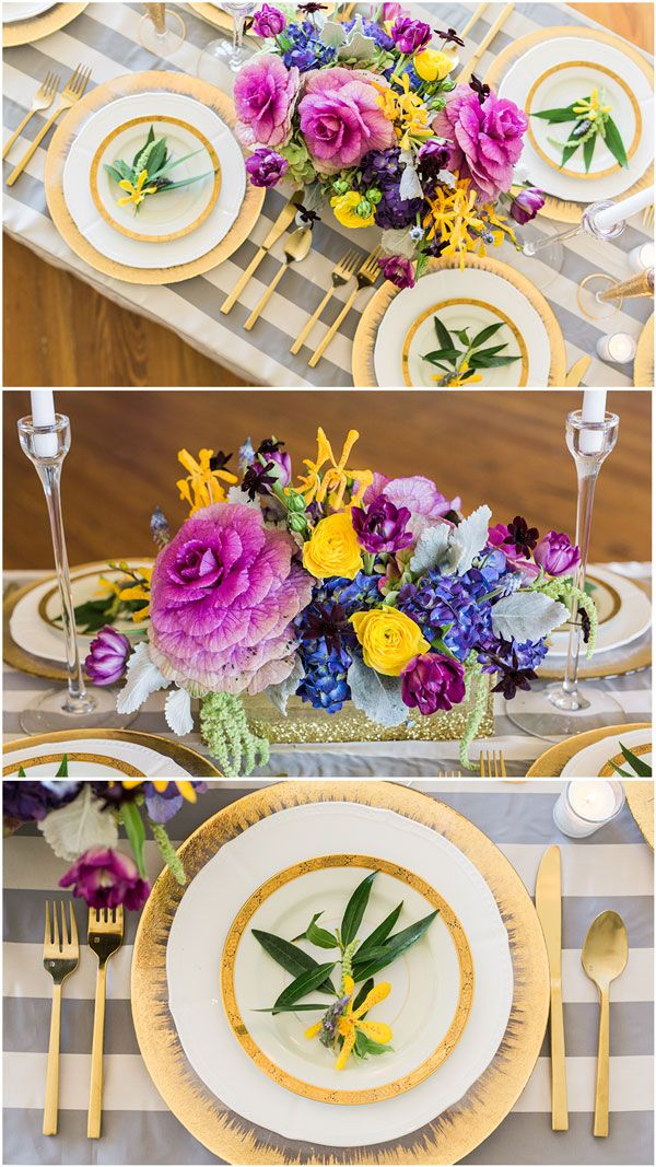 Gorgeous New Orleans Wedding Table Inspiration on www.prettymyparty.com.