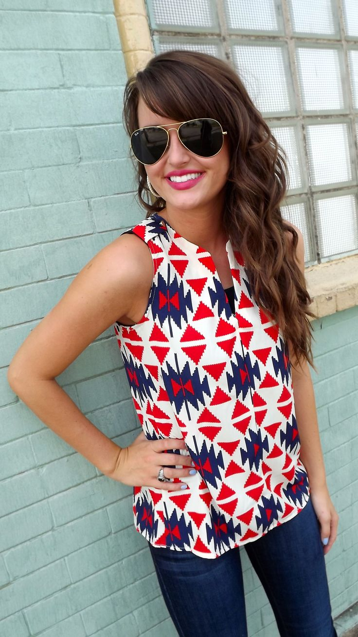 Fun red, white and blue pattern!