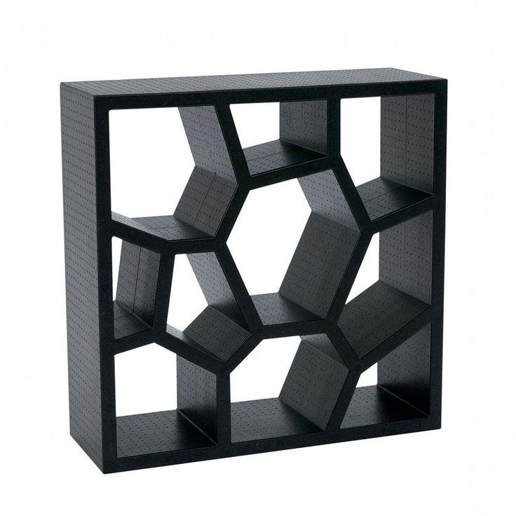 Black Opus Shelving Design ~ http://www.lookmyhomes.com/opus-shelving-design/