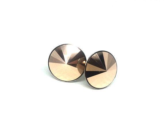 Swarovski Crystal Earrings  Rose Gold Swarovski by LKSjewelry