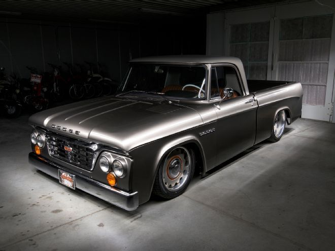 Please say hello to another Lakeside creation, Kirby Wilcox's 1965 Dodge D-100. Mopar fans will be happy to know the drivetrain was kept true to the brand.
