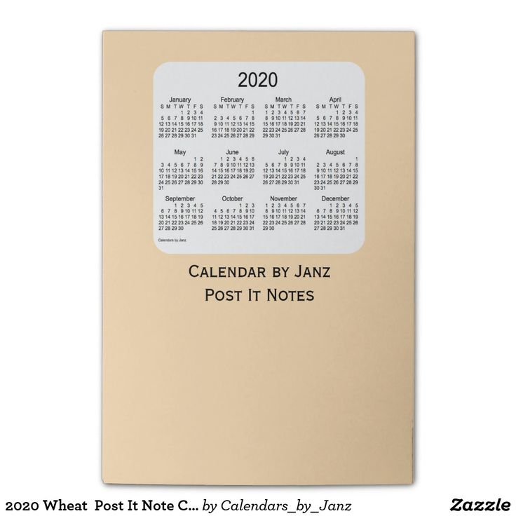 2020 Wheat  Post It Note Calendars by Janz