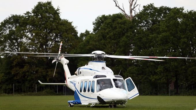 Sheikh Mohammed Bin Rashid Al Maktoum's other mode of transport - his private helicopter