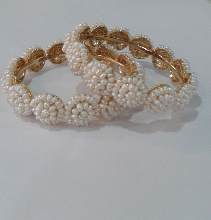Exclusive Pearl Bangle Collection | Buy Online Jewellery | Elegant Fashion Wear Price ;1500 #pearl #designer #bangles