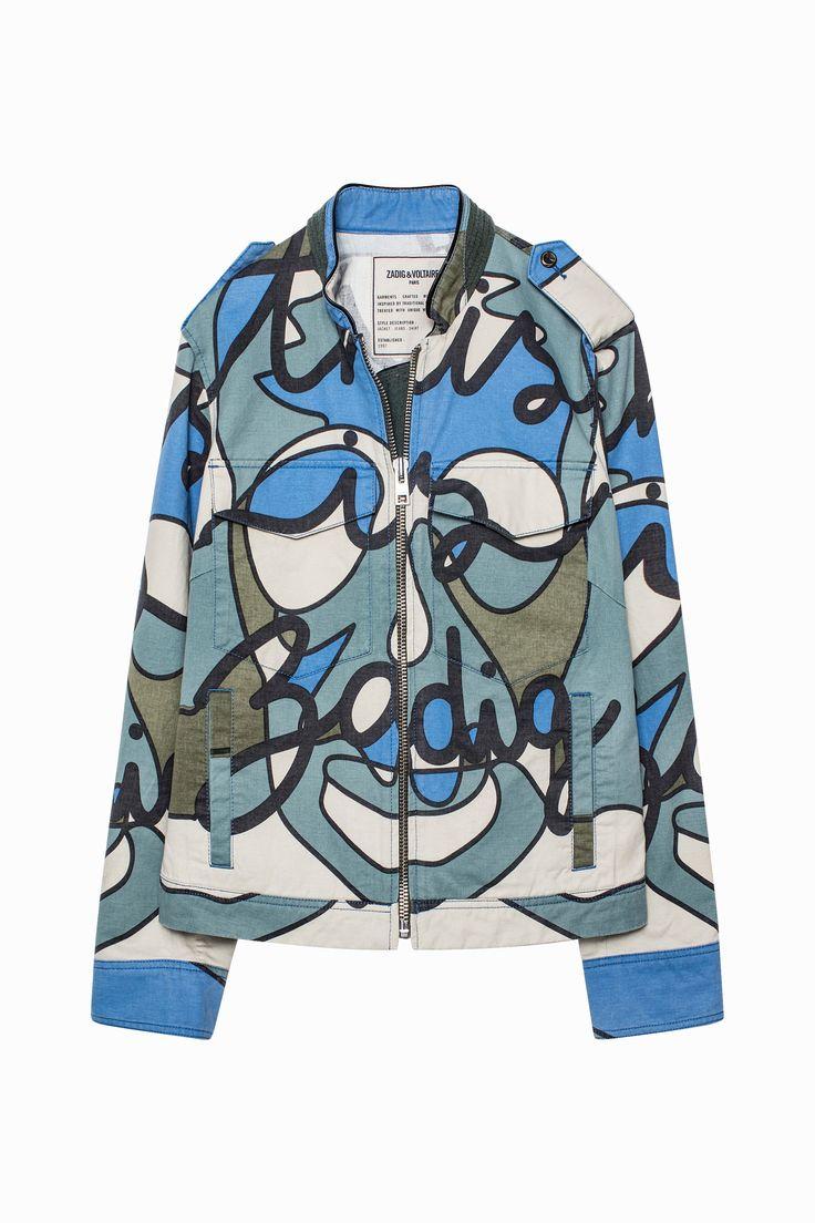 Zadig & Voltaire X Penninghen camouflage print jacket.