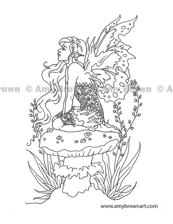 artist amy brown fantasy myth mythical mystical legend elf elves dragon dragons fairy fae wings fairies fairy coloring pagesadult - Coloring Pages Dragons Fairies
