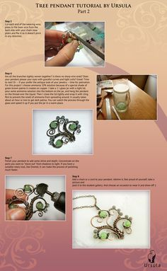 Very short tutorial on how to make a pendant tree of copper wire. Part 2.