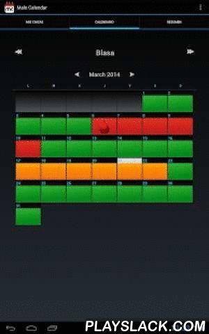 """Male Calendar  Android App - playslack.com , Mesesube presenta Male Calendar, el calendario para hombres de android. Con él usted podrá tener un seguimiento diario y completo del ciclo menstrual de su pareja o parejas.- ¿Está cansado de no saber por qué su pareja se enfada sin motivo aparente?- ¿Alguna vez ha dicho """"No"""" a sus amigos, para terminar """"sólo"""" cenando con la parienta?- ¿Harto de planear un viaje con su compañera y luego encontrarse con que no pueden hacer """"nada"""" ya que ella se…"""