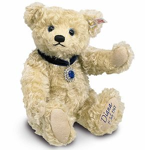 A Princess Diana bear to commemorate her 50th birthday. Kind of crazy, but why not?
